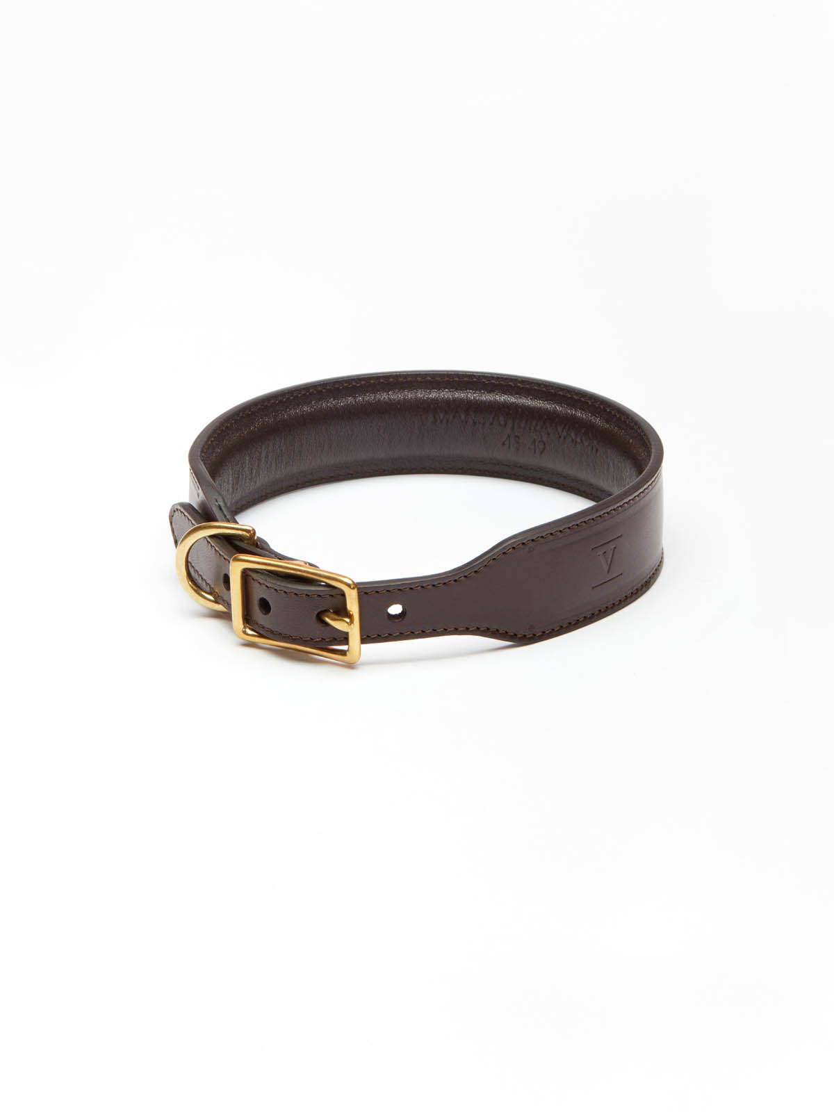 designer leather dog collar
