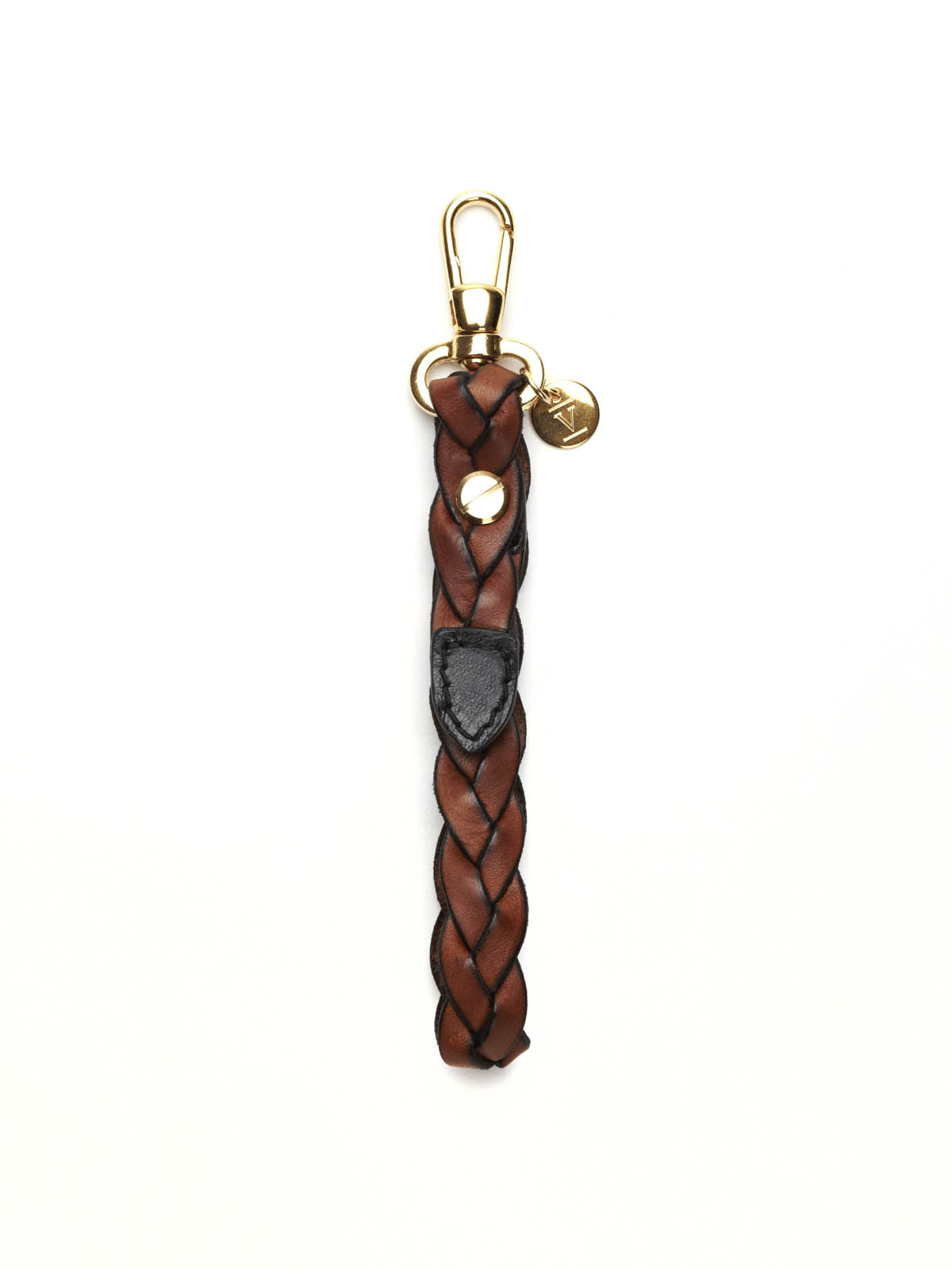 Keyring pendant in braided leather