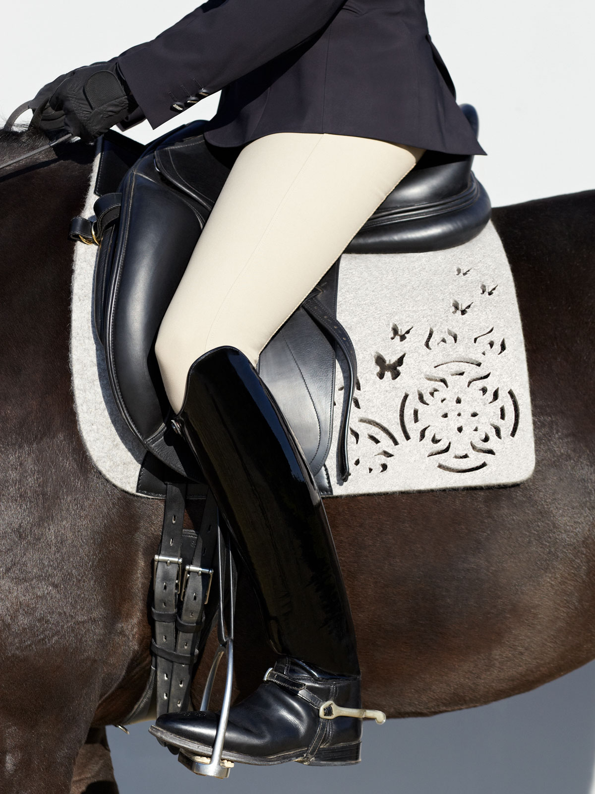 VALOR pure wool felt saddle pad FARFALLA