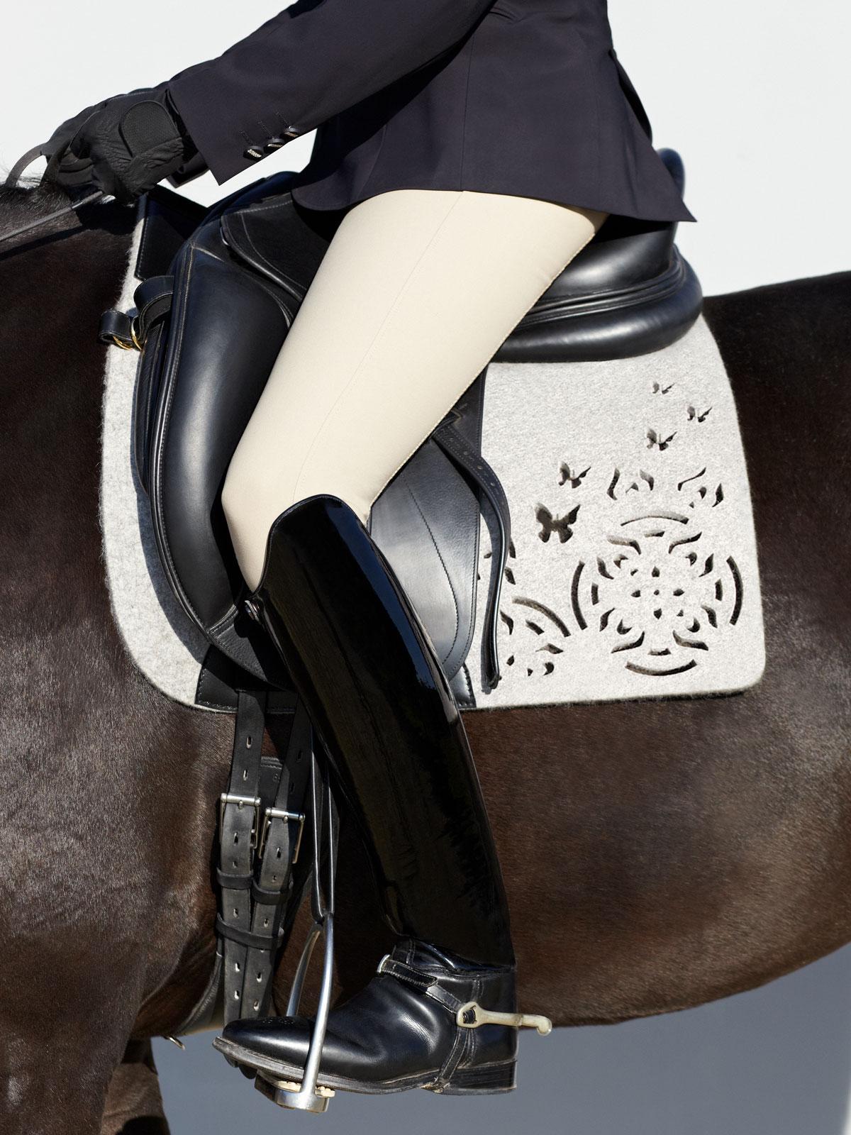 VALOR pure wool felt saddle pad FARFALLA