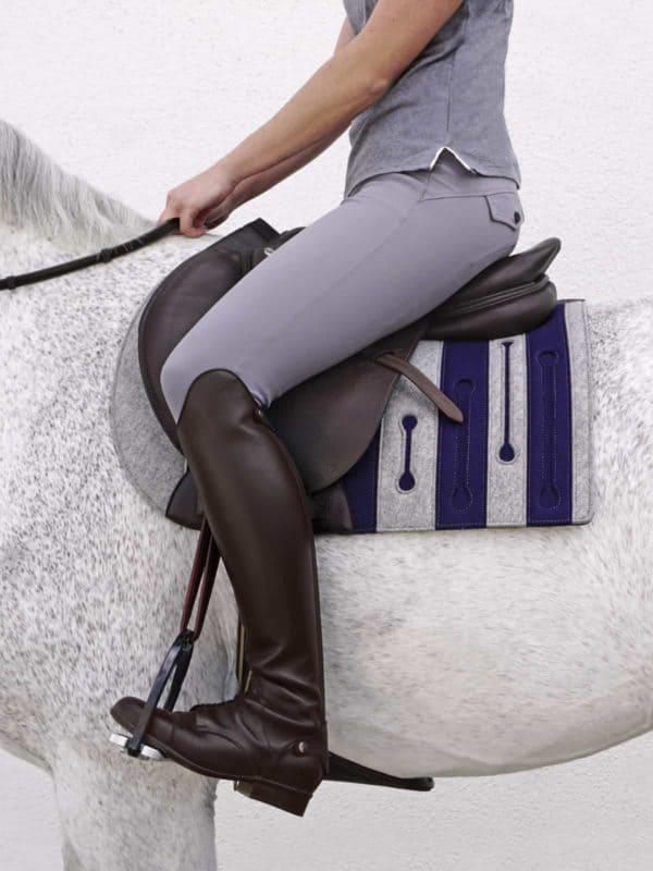 custom english saddle pad from pure wool