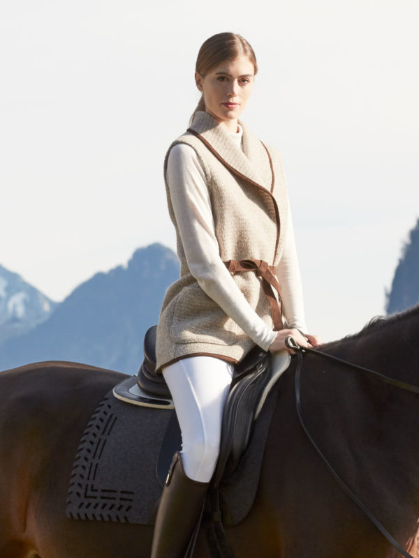handwoven jacket for horse riding