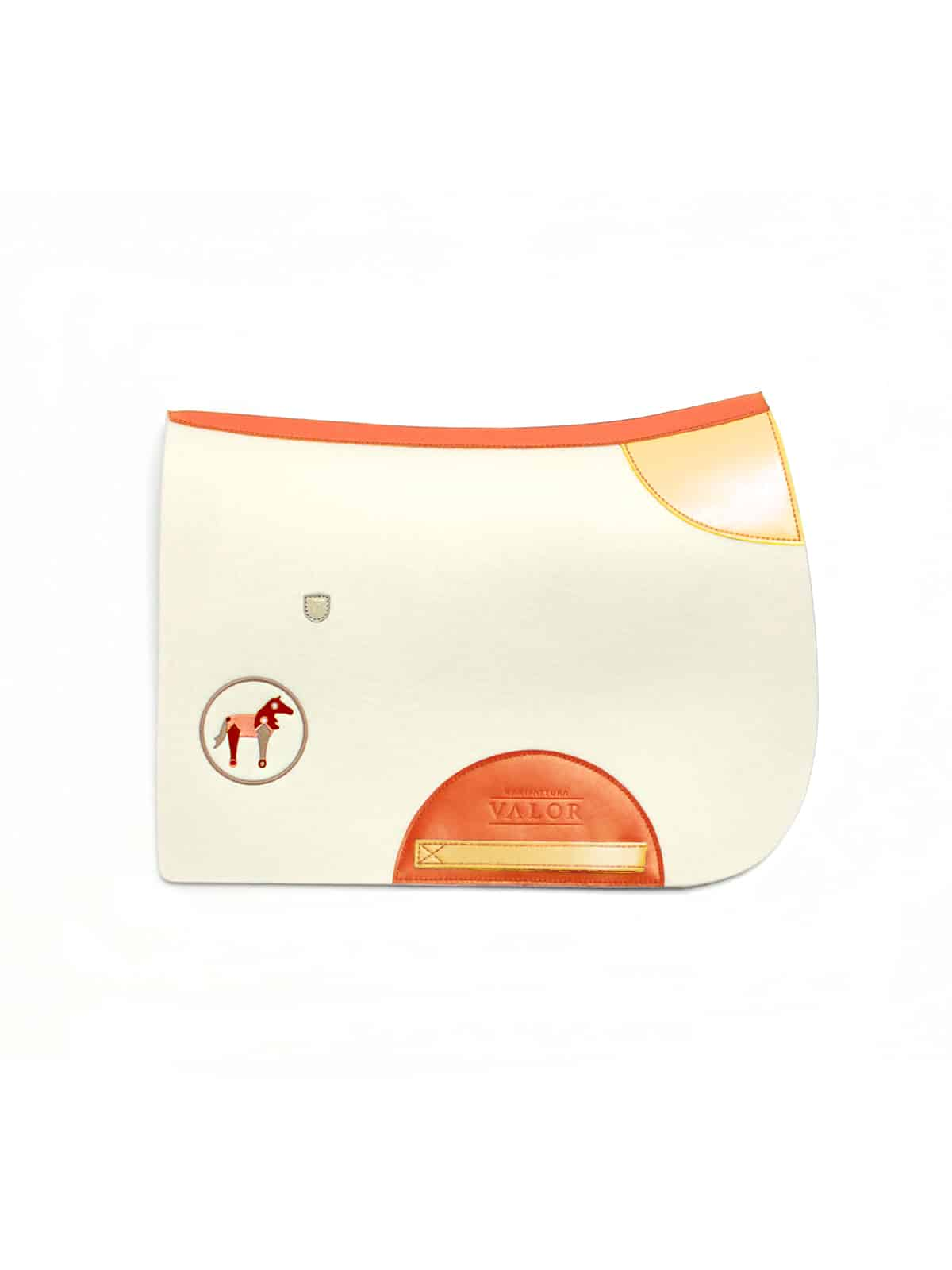 orange personalised wool saddle pad